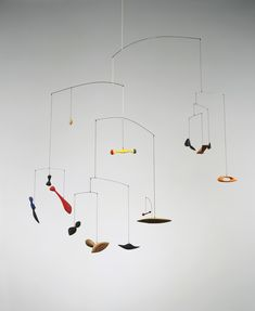Alexander Calder Constellation Mobile 1943. Wood, wire, string and paint 53 x 48 x 35 inches. Calder Foundation, New York