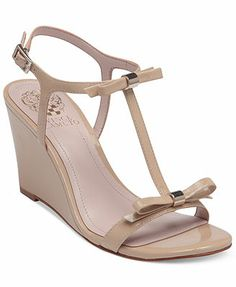 Vince Camuto Hattel Bow Wedge Sandals