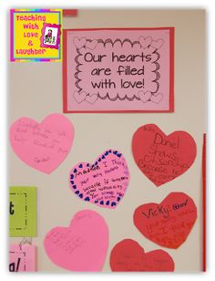 Teaching With Love and Laughter: Our Hearts are Filled With Love Display