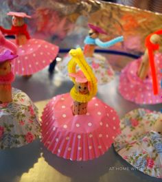 Little ballet school filled with peg doll ballerinas