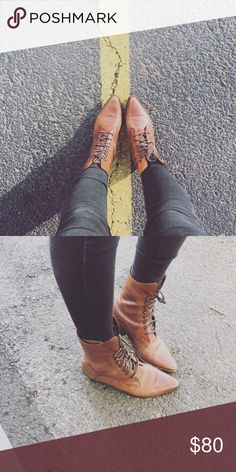 Urban Outfitters- leather western lace up boots Used condition. Beautiful boots. Urban Outfitters Shoes Lace Up Boots