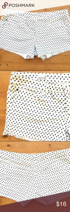 Gap 1969 Shorts Excellent condition zips I close with button I love the Polka dots size 31 summer cut offs 98% cotton 2% spandex 17 1/2 waist 12 1/2 long 3 in inseam like new very cute💕💕 GAP Shorts