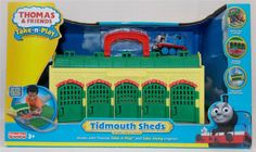 New in Toys & Hobbies, TV, Movie & Character Toys, Thomas the Tank Engine You are bidding on a Thomas and Friends Take n Play Tidmouth Sheds Portable Playset New  Box has slight shelf wear from being in storage  Comes brand new and unopened