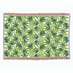 Marijuana Leaves Throw Blanket $109.00 Nine point Marijuana leaves. Cannabis is recognized legally in several US states, mostly for medical purposes, but some are recognizing recreational use as well. Pot smokers and medical patients will enjoy these products!