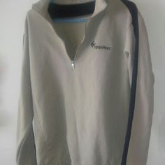 Nike Zip Up V-Neck Sweater Very comfortablre! Worn twice. Like Brand new. There aren't that many of these! Nike Sweaters V-Necks