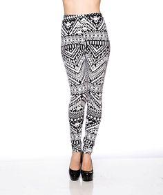 Black & White Printed Long Legging