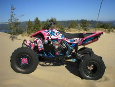 ITP Baja Wheels and Skat-Trak 8 Paddle Extremes - Suzuki LT-R450 Forum :: LTR450HQ.com