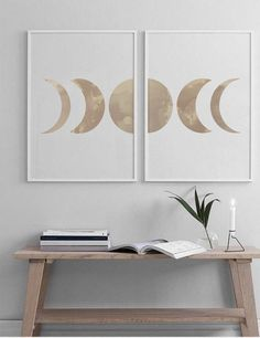 Modern Room Decor, Stylish Home Decor, Moon Phases Art, Watercolor Moon, Cactus Wall Art, Moon Print, Woodland Nursery Decor, Bedroom Art, Modern Prints