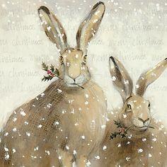 vmburkhardt:    vmburkhardt:  Festive Hares by Art Marketing