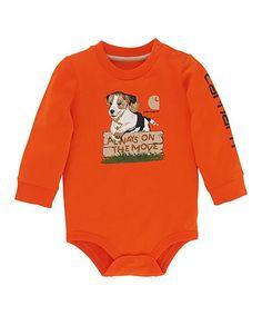 This Orange Puppy Bodysuit - Infant is perfect! #zulilyfinds