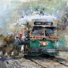 "Lague, Mark - ""All Aboard"" #design, #cityscape, #composition, #color"