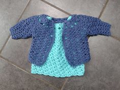 FREE baby dress and cardigan