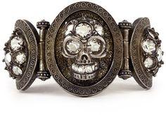 Alexander McQueen Stone Skull Bracelet