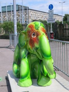 Elefant-parade in Luxemburg-town
