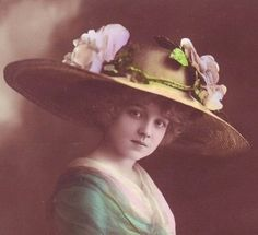 Another of Grete wearing the big hat w/ flowers