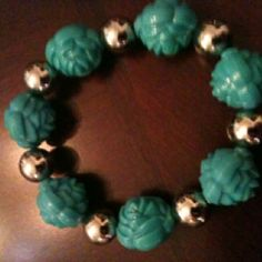 SS and turquoise bracelet