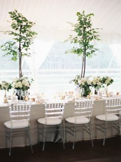 Garden perfection: http://www.stylemepretty.com/illinois-weddings/lake-forest/2015/05/20/elegant-tented-backyard-lake-forest-wedding/ | Photography: Annie Parish - http://www.annieparishphotography.com/