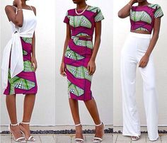 SALE African print crop top and pencil skirt set by FashAfrique