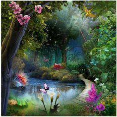 Jehovah Paradise Fantasy Landscape Fantasy Art Fantasy World Paradise Pictures
