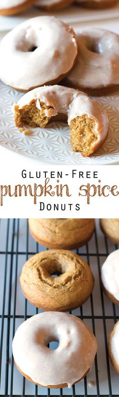 Baked not fried and coated in a delicious Cinnamon Maple Cream Cheese Glaze these Gluten-Free Pumpkin Spice Donuts are the ultimate fall breakfast (or dessert!)
