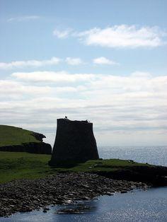 Mousa Broch, Shetland, Scotland by duncan, via Flickr -  It is the tallest still standing in the world and amongst the best-preserved prehistoric buildings in Europe. It is thought to have been constructed circa 100 BC, one of 570 brochs built throughout Scotland. The site is managed by Historic Scotland.