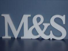 Cartel Iniciales Casamiento, Centro Mesa 15cm Altura Polyfan - $ 120,00 en Mercado Libre