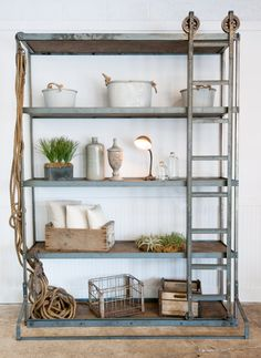 Beautiful Handmade Vintage Industrial Shelf by TheWhiteShanty