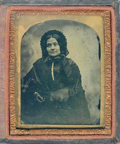 Woman in Mourning - 1850's - Ambrotype