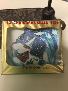 A personal favorite from my Etsy shop https://www.etsy.com/listing/257219497/vintage-unopened-christmas-seal-set-of