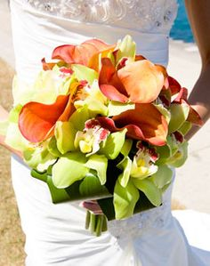 WeddingChannel Galleries: Calla Lily and Orchid Bouquet