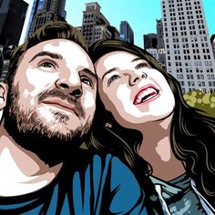 Celebrate your love with a whimsical artwork from your favorite photo, or from your saying. 20 years in art creation service, we'll make an awesome portrait for you two! Pop Art Artists, Portraits From Photos, Valentine Day Gifts, Celebrities, Artwork, Work Of Art, Celebs, Foreign Celebrities, Valentine Gifts