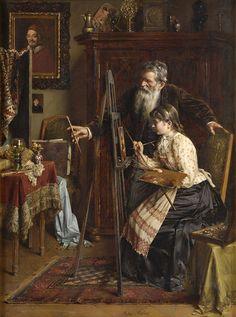 Die Kunststudentin, Anton Mueller