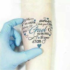 10 fabulosos tatuajes para llevar a tus hijos contigo todo el tiempo. La 8 es ¡genial! | Tuul