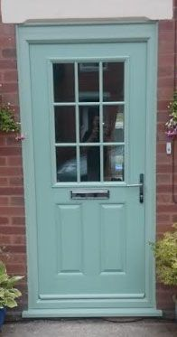 Chartwell green cottage style front door