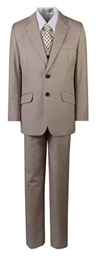 BJK Boys Slim Fit Dress Suits, Khaki, Toddler 1 BJK Collection Baby Tuxedo, Tuxedo Vest, Slim Fit Suits, Slim Fit Dresses, Dress Suits, Tie Dress, Cool Tuxedos, Trendy Suits, Beautiful Suit