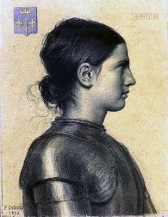 """Joan of Arc"" by Paul Dubois, French sculptor & painter famous for his art that honored the memory of Saint Joan of Arc, 1829-1905"