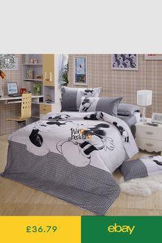 100 Baumwolle 4 Stücke Bettwäsche Mickey Und Minnie Kinder Maus