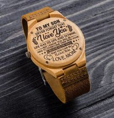 Engraved Wooden Watch – Great Gift For Your Husband – Forever Love Gifts Gifts For Fiance, Diy Gifts For Him, Great Gifts For Men, Gifts For Your Boyfriend, Love Gifts, Boyfriend Watch, Watch Engraving, Love Dad, Wooden Watch