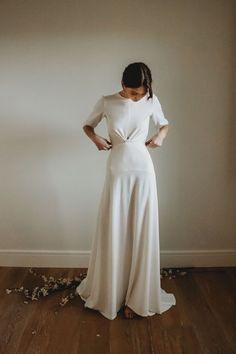 Ceriti — Heart Aflutter Bridal Boutique Elegant Wedding Dress, Casual Wedding, Wedding Gowns, Plain Wedding Dress, Bridal Dress Design, Bridal Boutique, Bridal Collection, Bridal Dresses, Designer Dresses