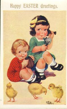 arthur-butcher-card-from-the-1930s-happy-easter-greetings-children