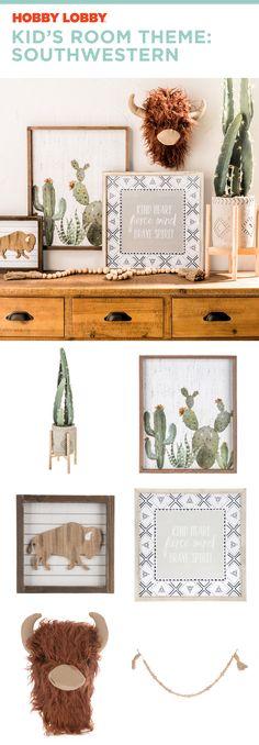 This southwestern style is so cute in a kid's room 🌵 Boy Nursey, Boy Nursery Themes, Baby Boy Rooms, Room Themes, Girl Nursery, Nursery Ideas, Baby Room, Nursery Mirror, Mirror Wall Art