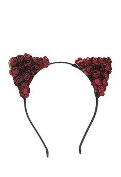 Rose Cat-Ear Headband   Forever 21 - 1000180158