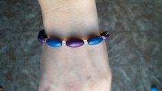 Hey, I found this really awesome Etsy listing at https://www.etsy.com/listing/185435378/blue-and-purple-beaded-bracelet
