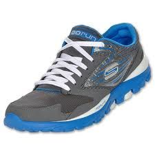 Sketchers go run.. LOVE my go runs, they are weightless and the material is mesh so that your feet breath and moisture doesn't stay inside!! <3 these kicks