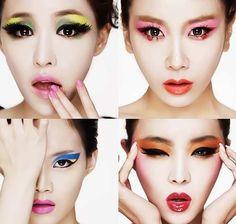 The Brown Eyed Girls, Kpop, Korean, Cleansing Cream, cover, pink, orange, blue, yellow