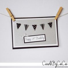 Happy 21st Birthday - Handmade Bunting Card by CardsByCaiCai on Etsy $4.00