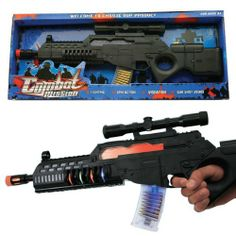 Combat Mission Toy Machine Gun with Lights, Sounds, Moving Bullets, and Moving Barrel Toy Gun For kids Esco Imports,http://www.amazon.com/dp/B00530FMY6/ref=cm_sw_r_pi_dp_SQ9Nsb19V4NP9JXX