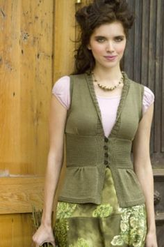 Free knitting pattern for fitted vest and more vest knitting patterns