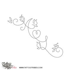 initials in swirls - Tattoo am Handgelenk - Tatouage Vine Tattoos, Baby Tattoos, Tattoos For Kids, Couple Tattoos, Body Art Tattoos, Small Tattoos, Tatoos, Swirly Tattoo, Flower Tattoo Arm