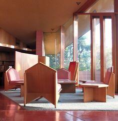 Dr. George Ablin House.1961. Bakersfield, California. Usonian Style. Frank Lloyd Wright